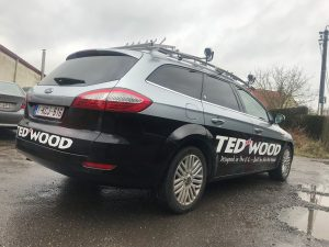 Belettering Ford Mondeo Ted-Wood