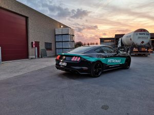 Belettering Ford Mustang Vrancx Lubricants / Petronas